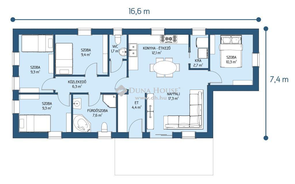 Eladó Ház, Bács-Kiskun megye, Kecskemét - 91m2 családi ház 25.000.000Ft állami támogatással