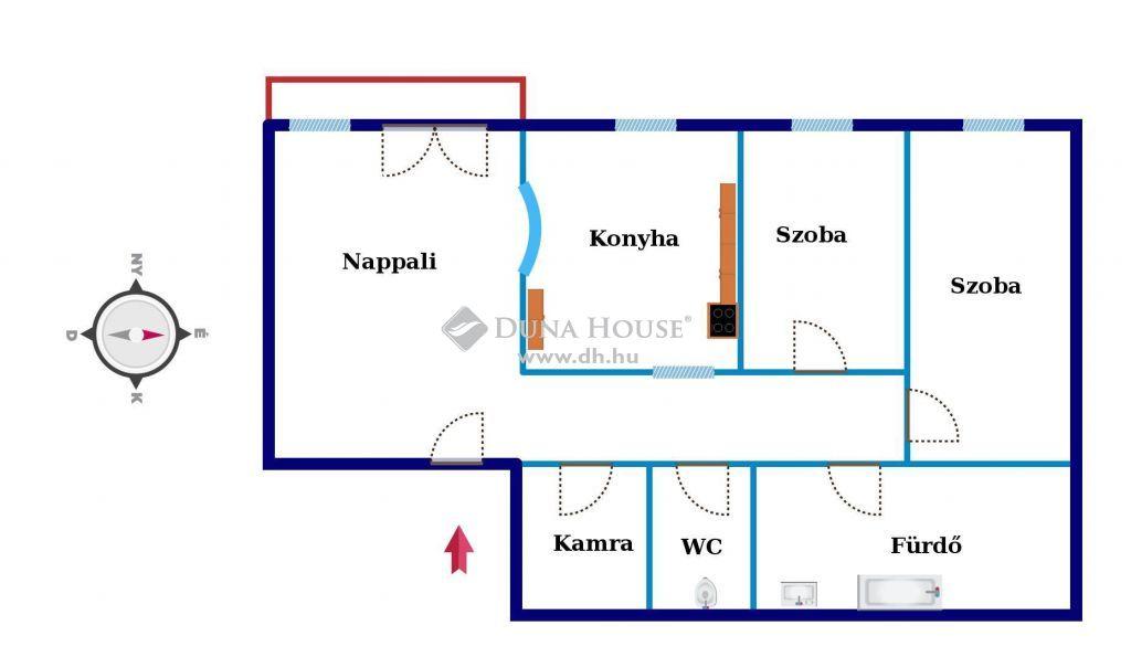 Eladó Lakás, Zala megye, Nagykanizsa - Szépen felújított duplaklímás erkélyes 3. emeleti lakás
