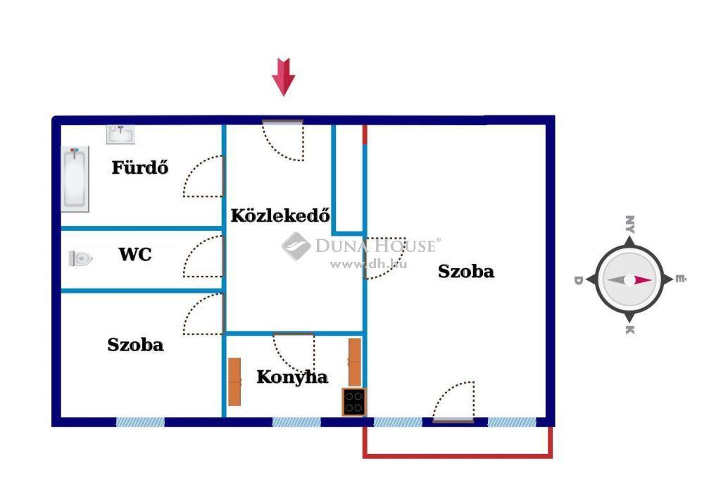 Eladó Lakás, Zala megye, Nagykanizsa - Belvárosközeli, barátságos, erkélyes, azonnal költözhető panorámás lakás