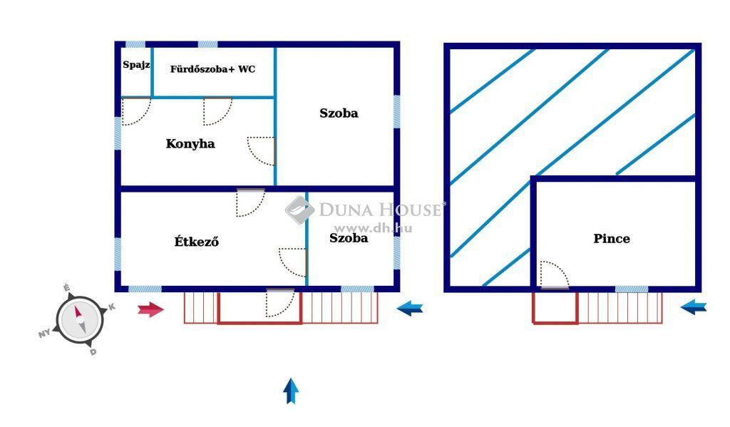 Eladó Ház, Bács-Kiskun megye, Kecskemét - LAKÁS ÁRÁN 2 SZOBÁS TÉGLA HÁZ KATONATELEPEN